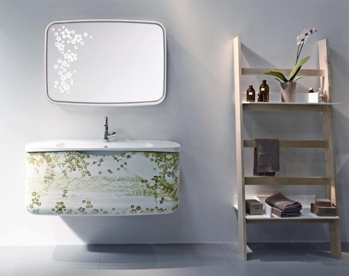Collezione METAMORFOSI – base monoblocco e specchio per bagno ...